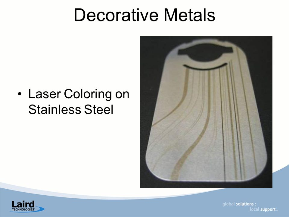 Decorative Metals Laser Coloring on Stainless Steel