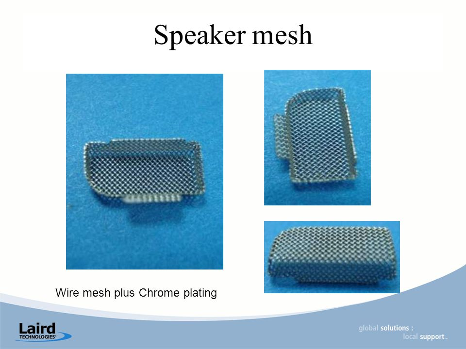 Speaker mesh Wire mesh plus Chrome plating
