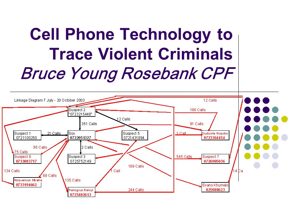 Cell Phone Technology to Trace Violent Criminals Bruce Young Rosebank CPF