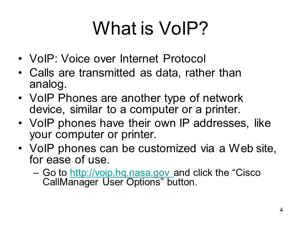 4 What is VoIP.