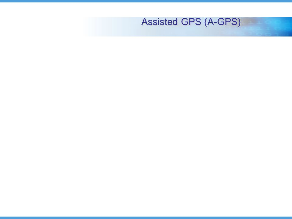 Assisted GPS (A-GPS)