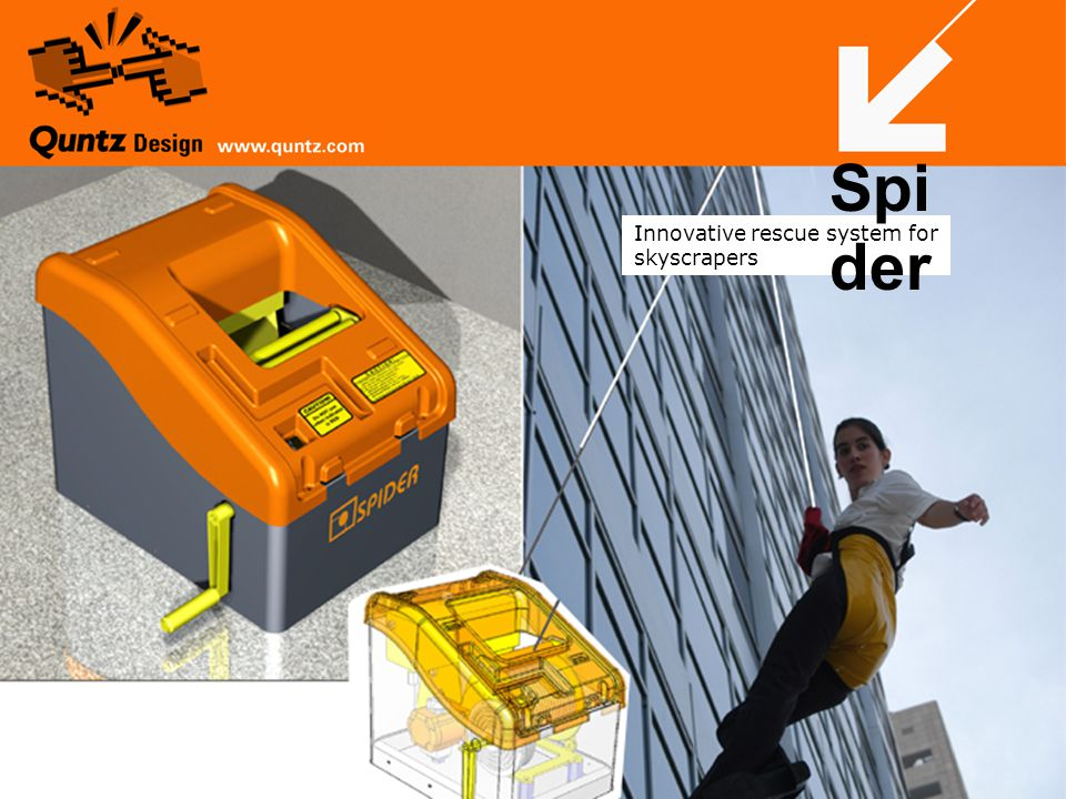 Innovative rescue system for skyscrapers Spi der