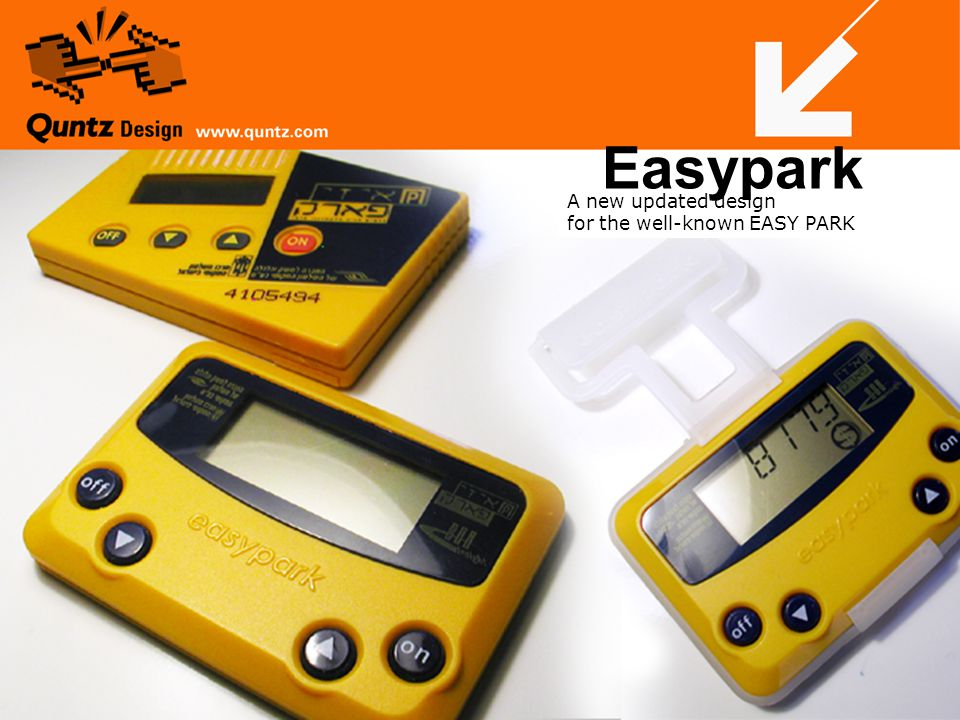 A new updated design for the well-known EASY PARK Easypark