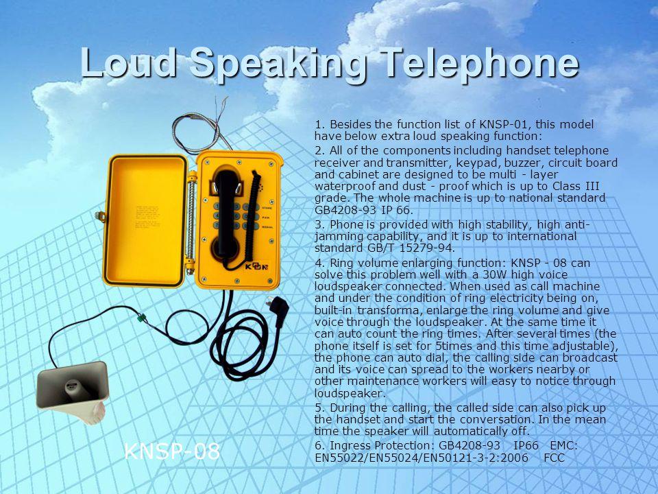 Loud Speaking Telephone II 1.