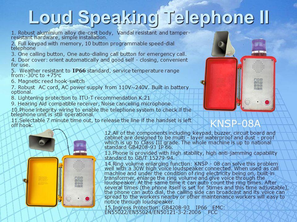 Auto-dial waterproof phone 1.