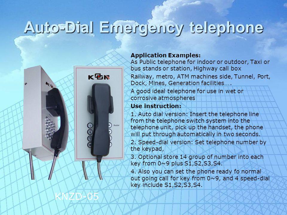 Flush mont Emergency phone Characteristics: 1.