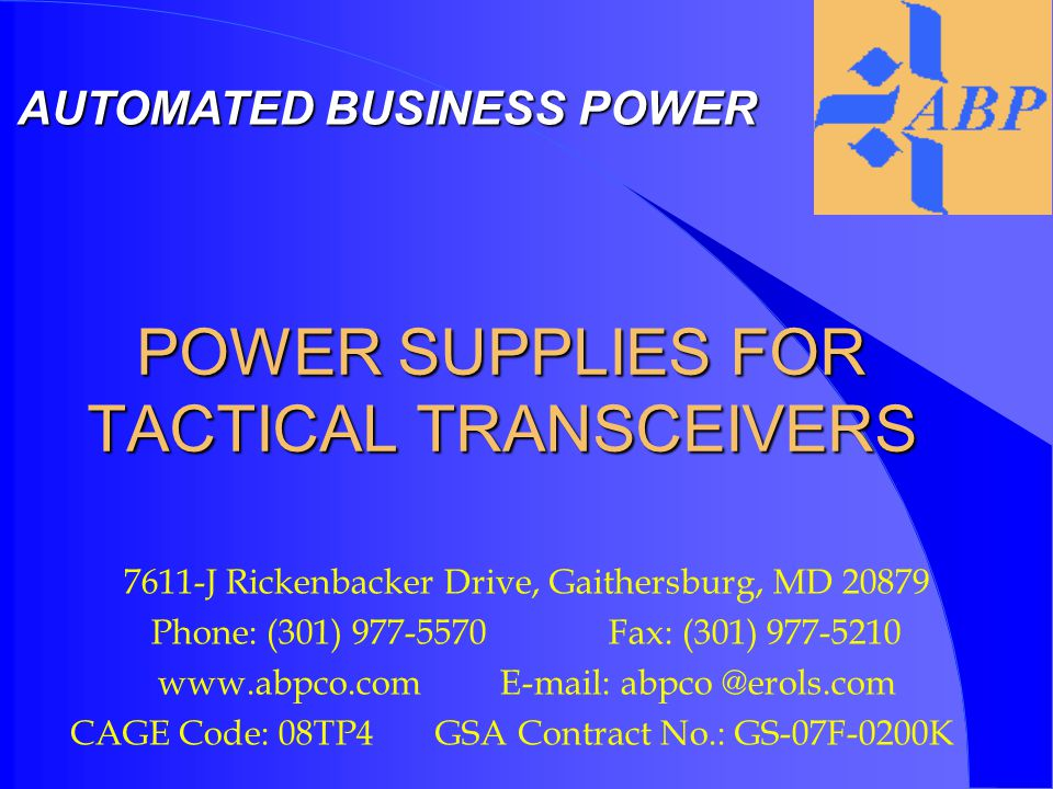 WHY USE A POWER SUPPLY FOR TACTICAL TRANSCEIVER.l Save on battery expenditure.