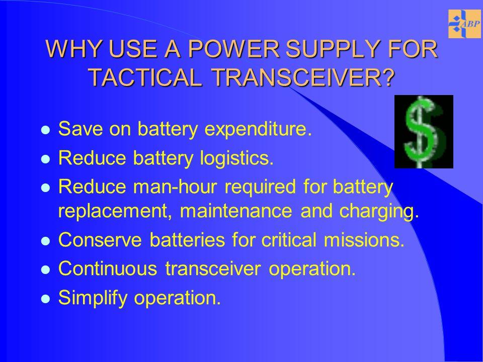 AN/PRC-119 SINCGARS POWER/COMM UNIT l Uninterruptible power supply for AN/PRC-119 SINCGARS SIP.