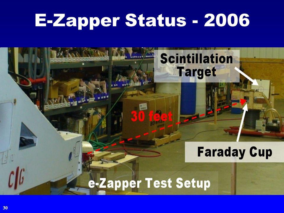 30 E-Zapper Status - 2006