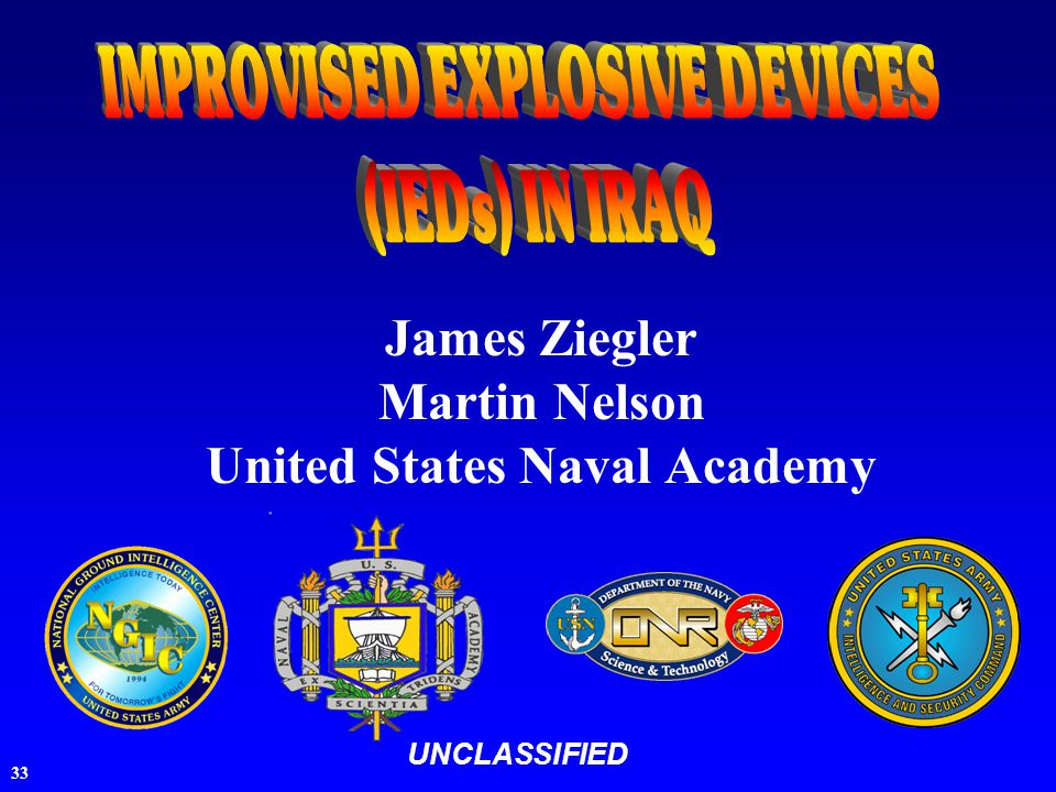 33 UNCLASSIFIED James Ziegler Martin Nelson United States Naval Academy