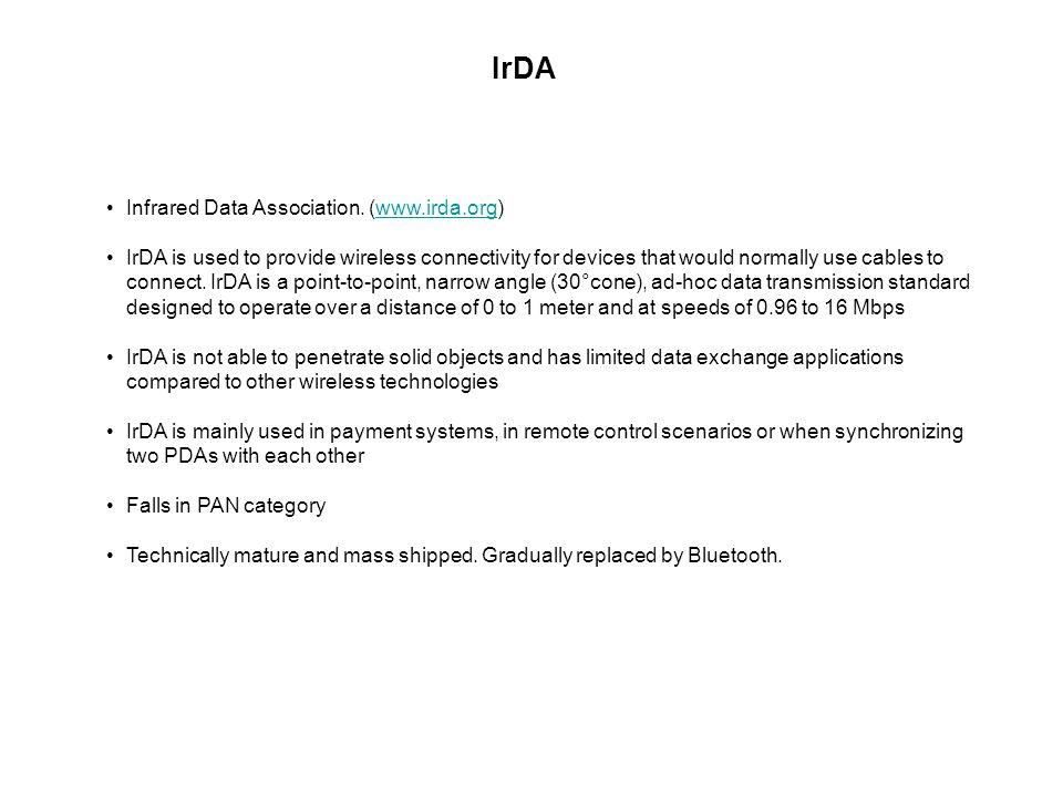 IrDA Infrared Data Association.