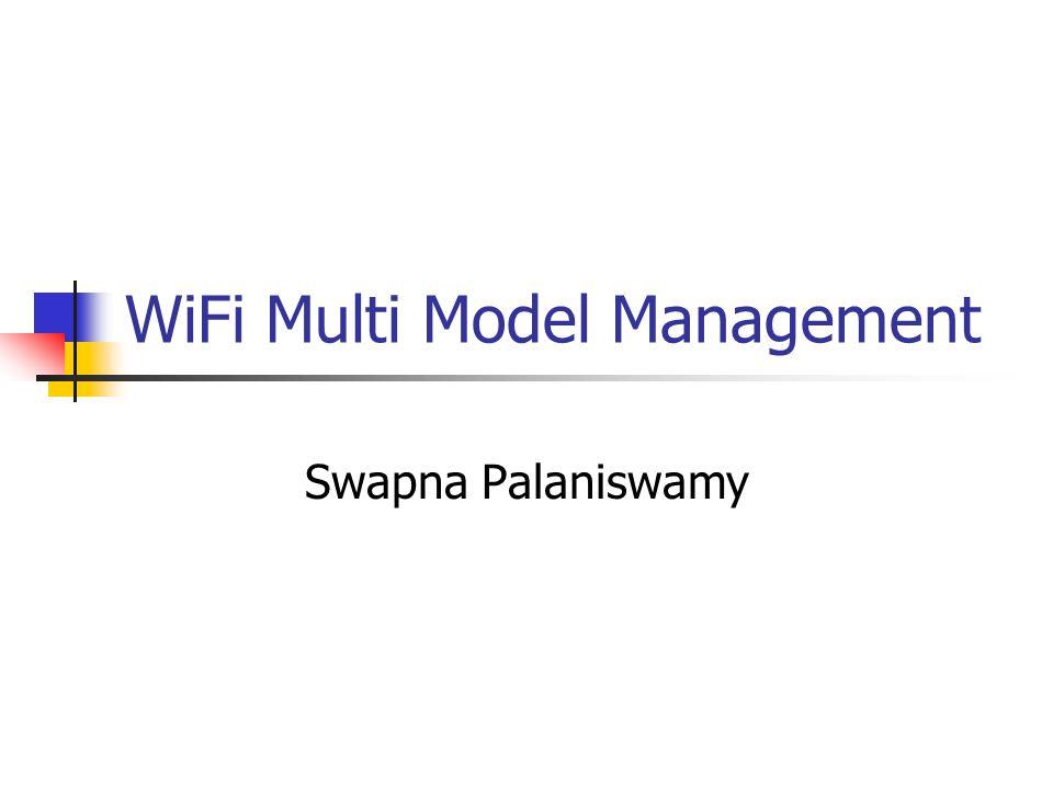 WiFi Multi Model Management Swapna Palaniswamy