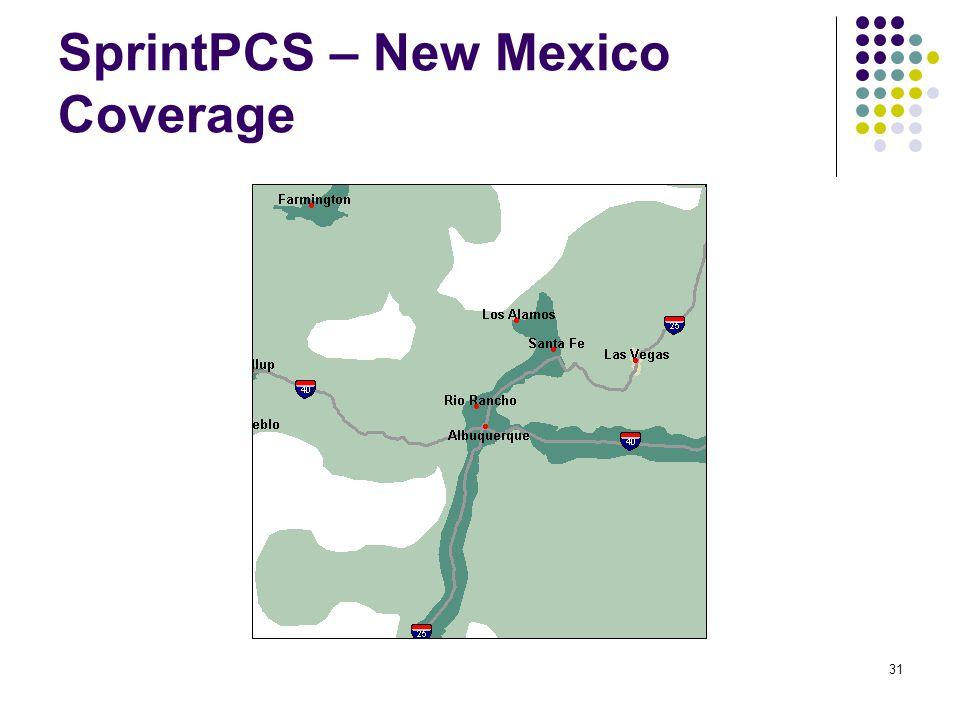 31 SprintPCS – New Mexico Coverage