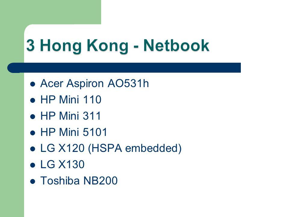 Acer Aspiron AO531h HP Mini 110 HP Mini 311 HP Mini 5101 LG X120 (HSPA embedded) LG X130 Toshiba NB200