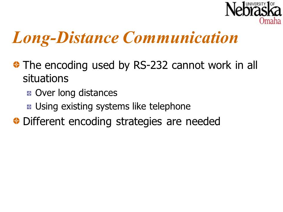 Summary Long-distance communications use carriers and modulation for reliable communication.