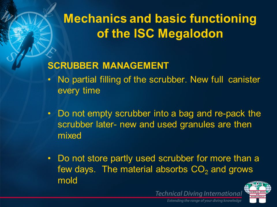 Mechanics and basic functioning of the ISC Megalodon SCRUBBER MANAGEMENT No partial filling of the scrubber.