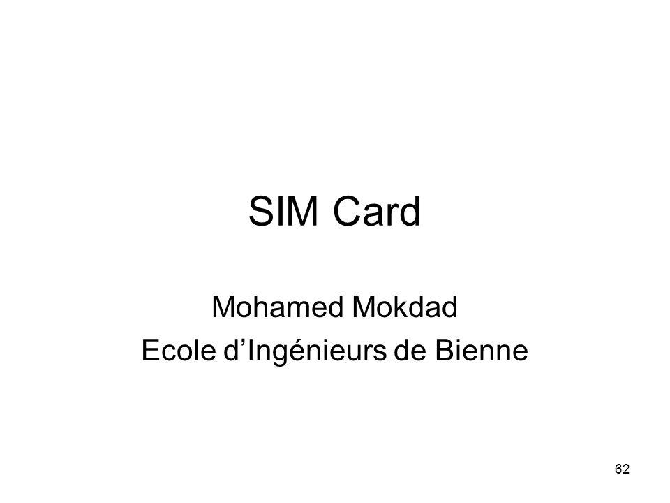 62 SIM Card Mohamed Mokdad Ecole d'Ingénieurs de Bienne