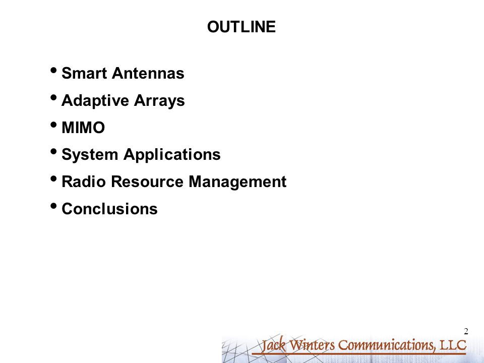 13 ANTENNA AND DIVERSITY GAIN Antenna Gain: Increased average output signal-to-noise ratio - Gain of M with M antennas - Narrower beam with /2-spaced antenna elements Diversity Gain: Decreased required receive signal-to-noise ratio for a given BER averaged over fading - Depends on BER - Gain for M=2 vs.