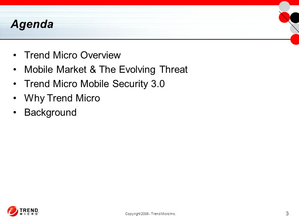 Copyright 2006 - Trend Micro Inc.
