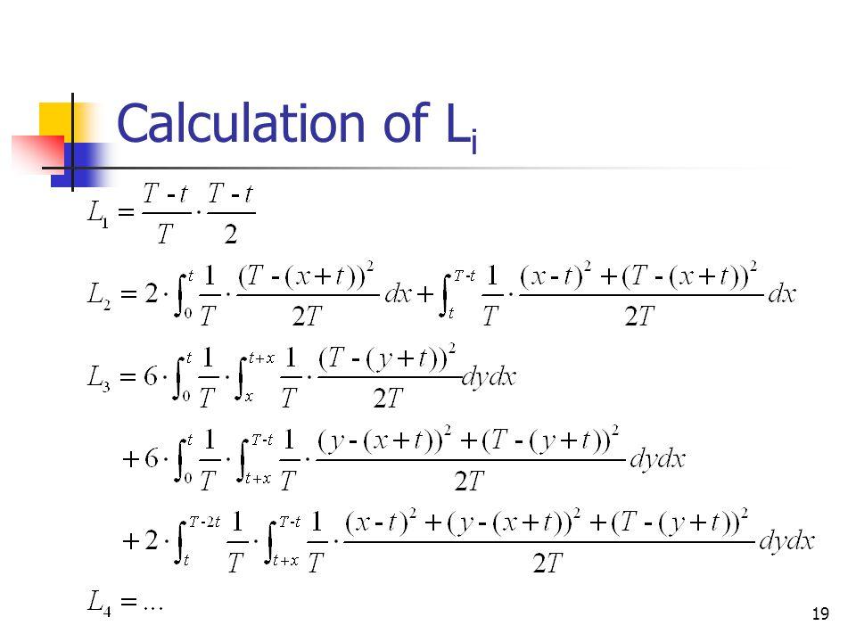 19 Calculation of L i