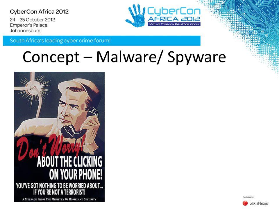 Concept – Malware/ Spyware