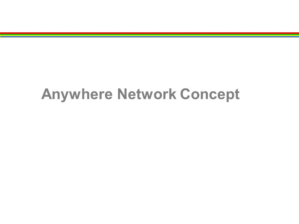 Agenda Anywhere Network Access Consumer Access Evolution Anywhere Access Experience