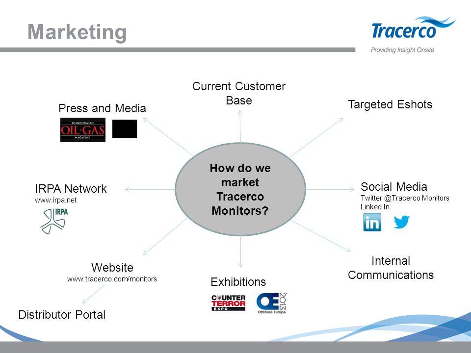 Marketing How do we market Tracerco Monitors.