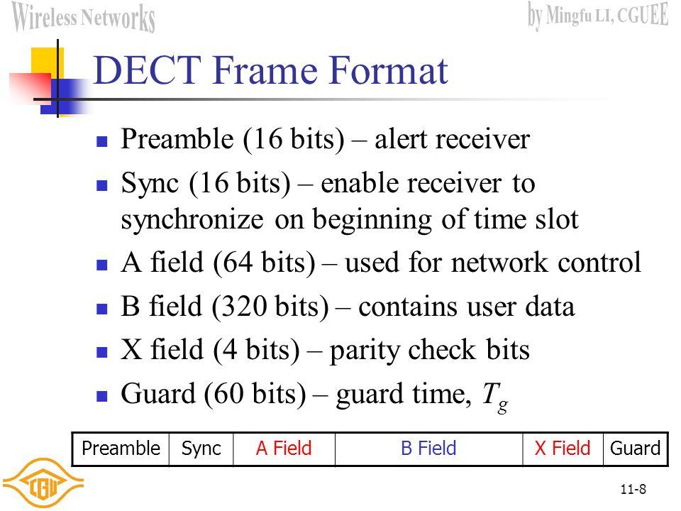 11-48 IEEE 802.16.1 Frame Format