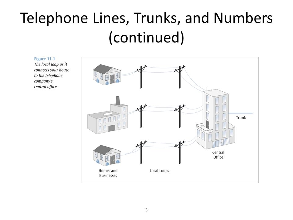 3 Telephone Lines, Trunks, and Numbers (continued)