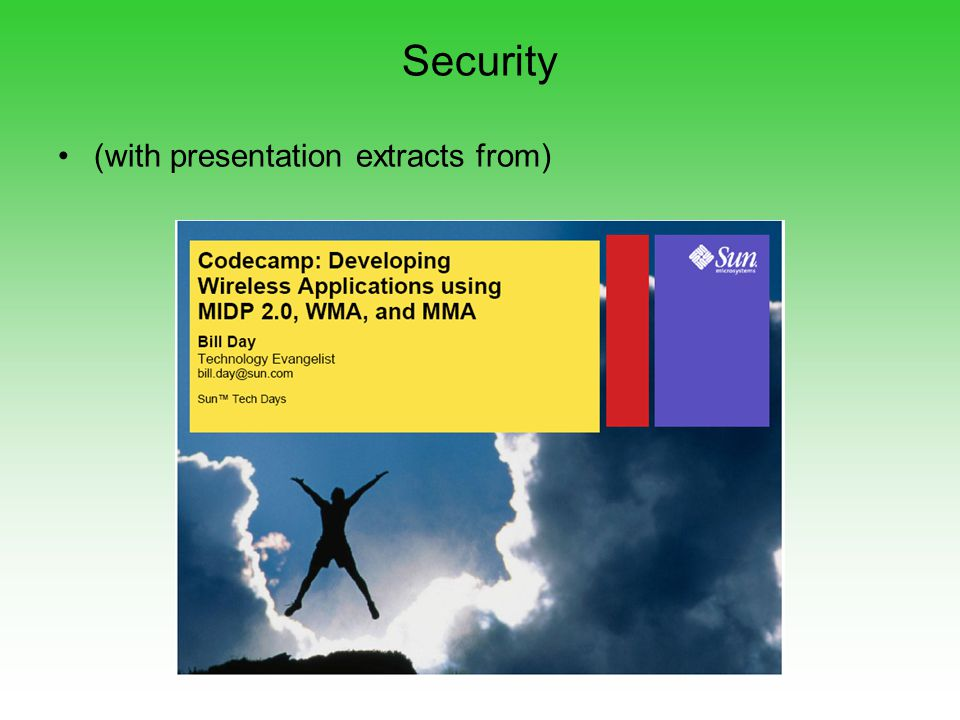 Security (with presentation extracts from)