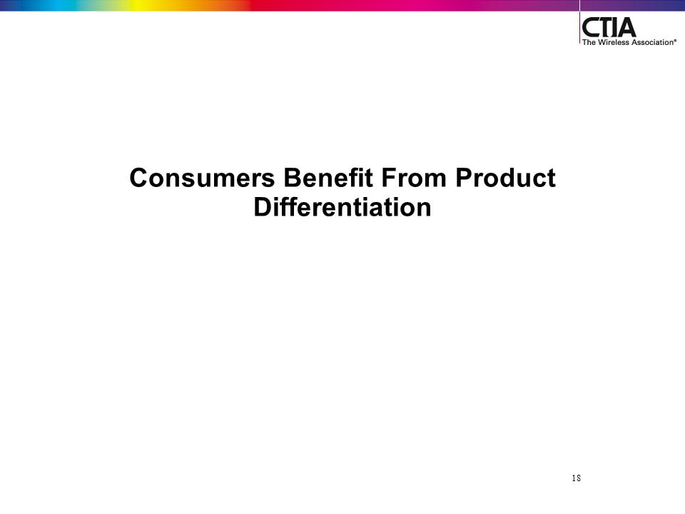 18 Consumers Benefit From Product Differentiation