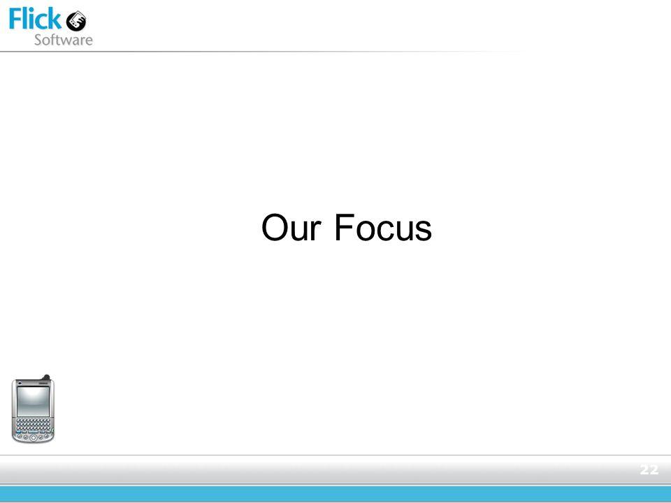 22 Our Focus