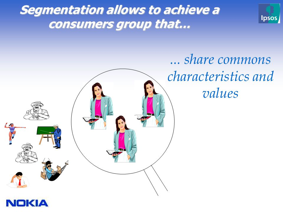Segmentation allows to achieve a consumers group that......