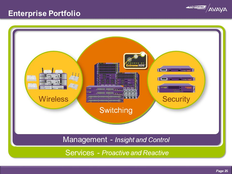 Management - Insight and Control Enterprise Portfolio SecurityWireless Services - Proactive and Reactive Management - Insight and Control Page 25