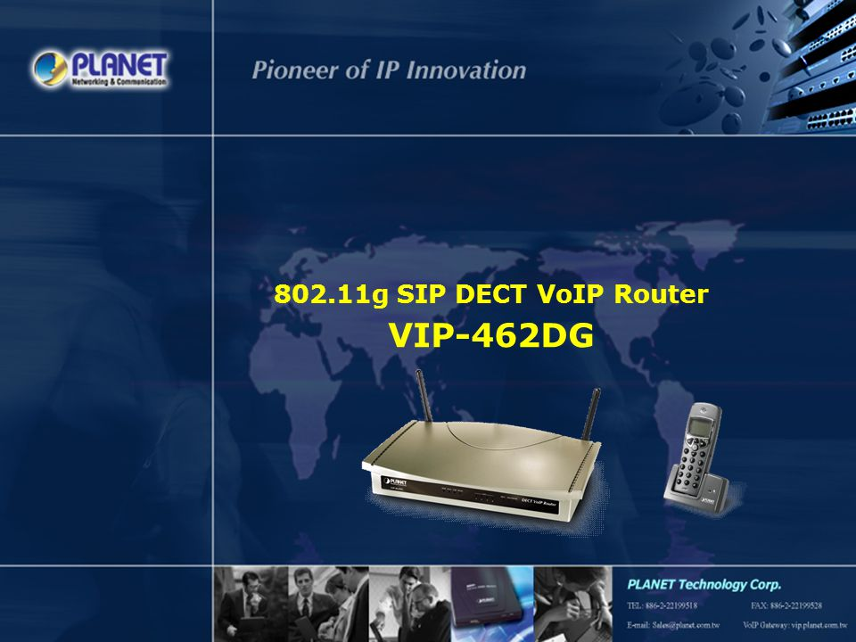 SG-VIP-462DGV1 Page 12 / 15 Applications – 1/3 The connectivity of VIP-462DG  Up to 5 DECT phones registration  Calls to PSTN or Internet  SIP server registration  Internet Connectivity Connection Registration Internet PSTN Desktop PC WLAN NB