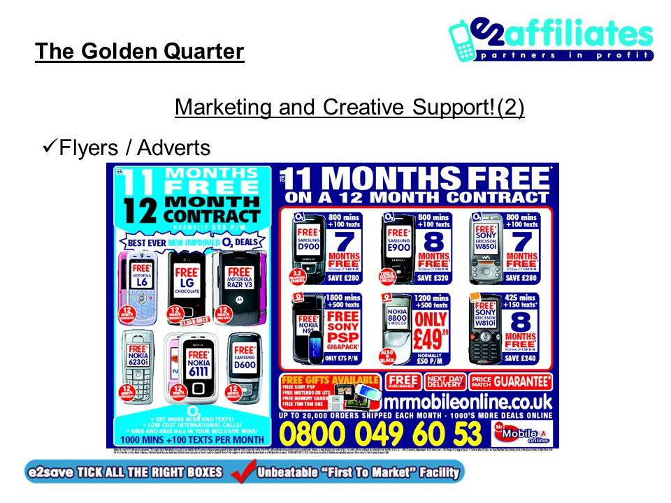 The Golden Quarter Marketing and Creative Support!(2) Flyers / Adverts