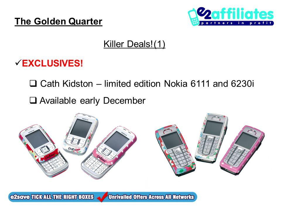 The Golden Quarter Killer Deals!(1) EXCLUSIVES.