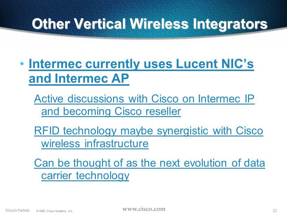 22 Xircom Partner © 1999, Cisco Systems, Inc.