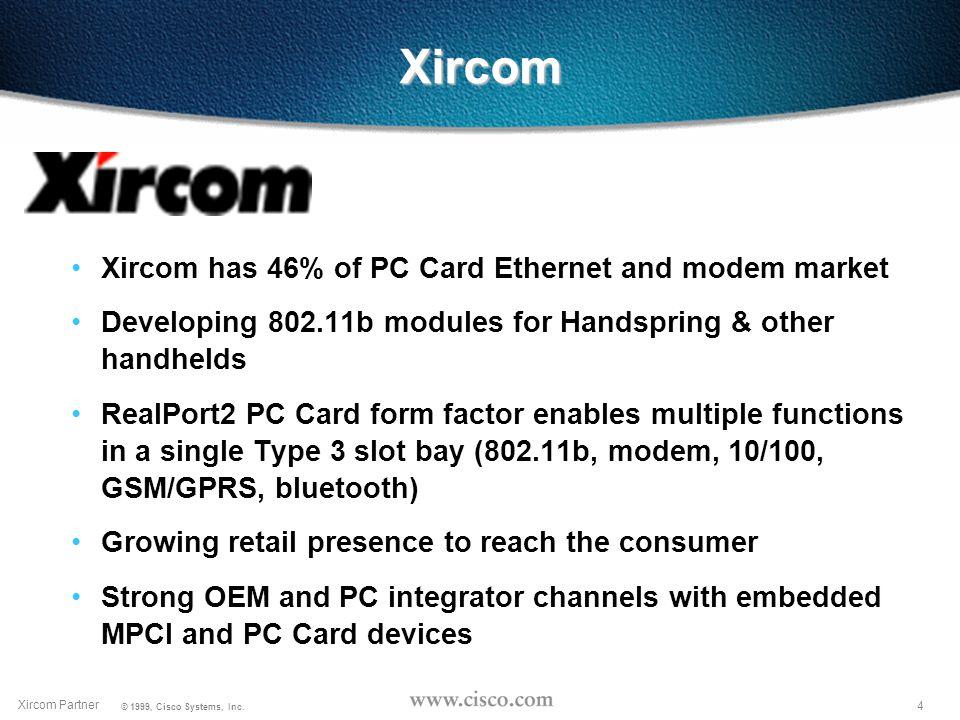 3 Xircom Partner © 1999, Cisco Systems, Inc.