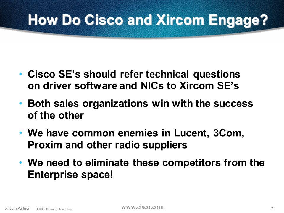 6 Xircom Partner © 1999, Cisco Systems, Inc.