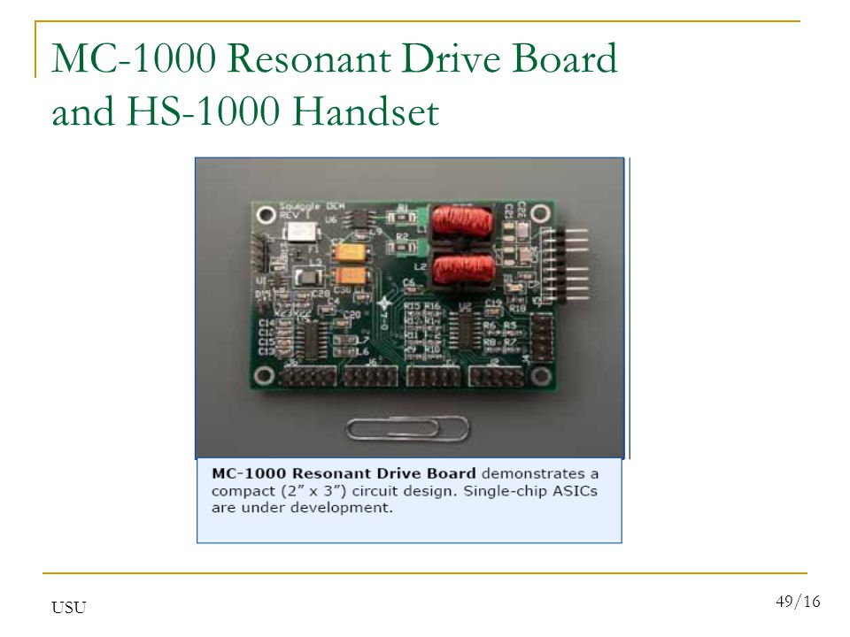 USU 49/16 MC-1000 Resonant Drive Board and HS-1000 Handset