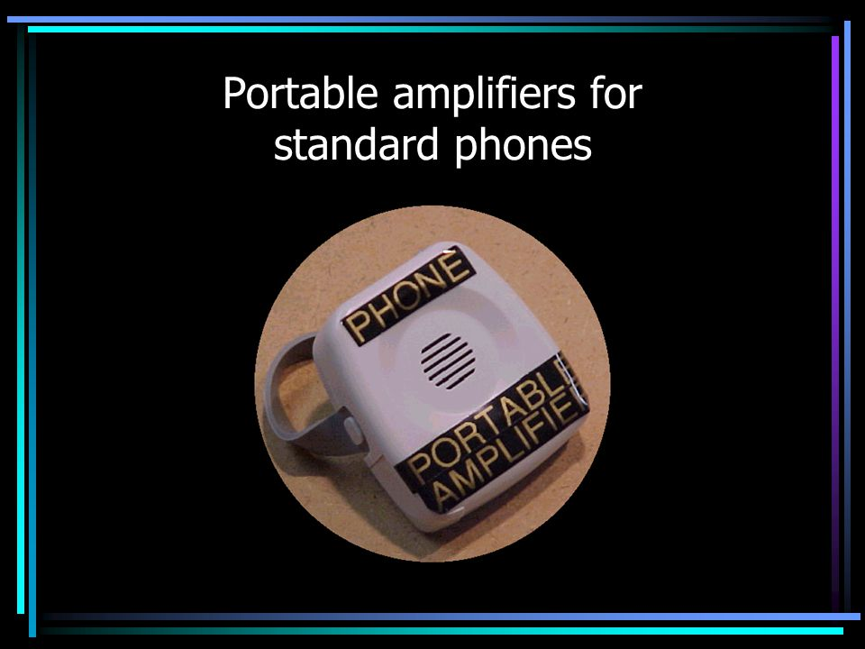 Portable amplifiers for standard phones
