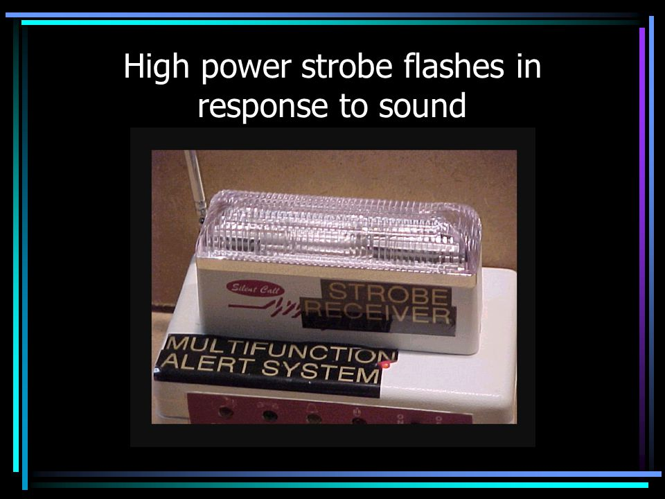 High power strobe flashes in response to sound