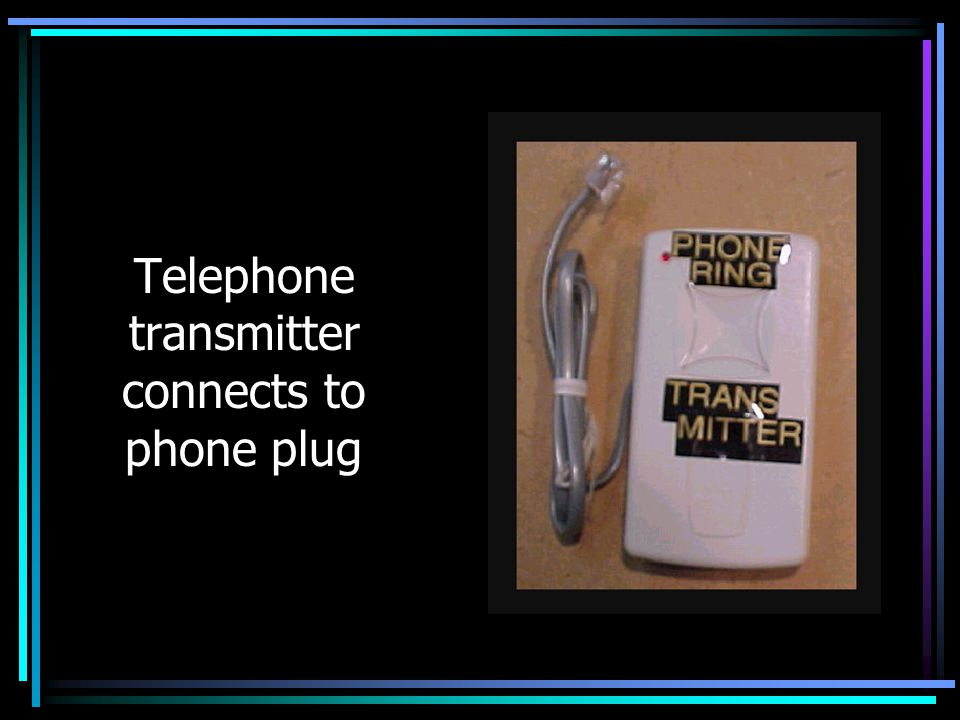 Telephone transmitter connects to phone plug