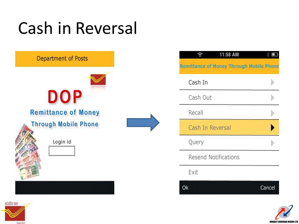 Cash in Reversal