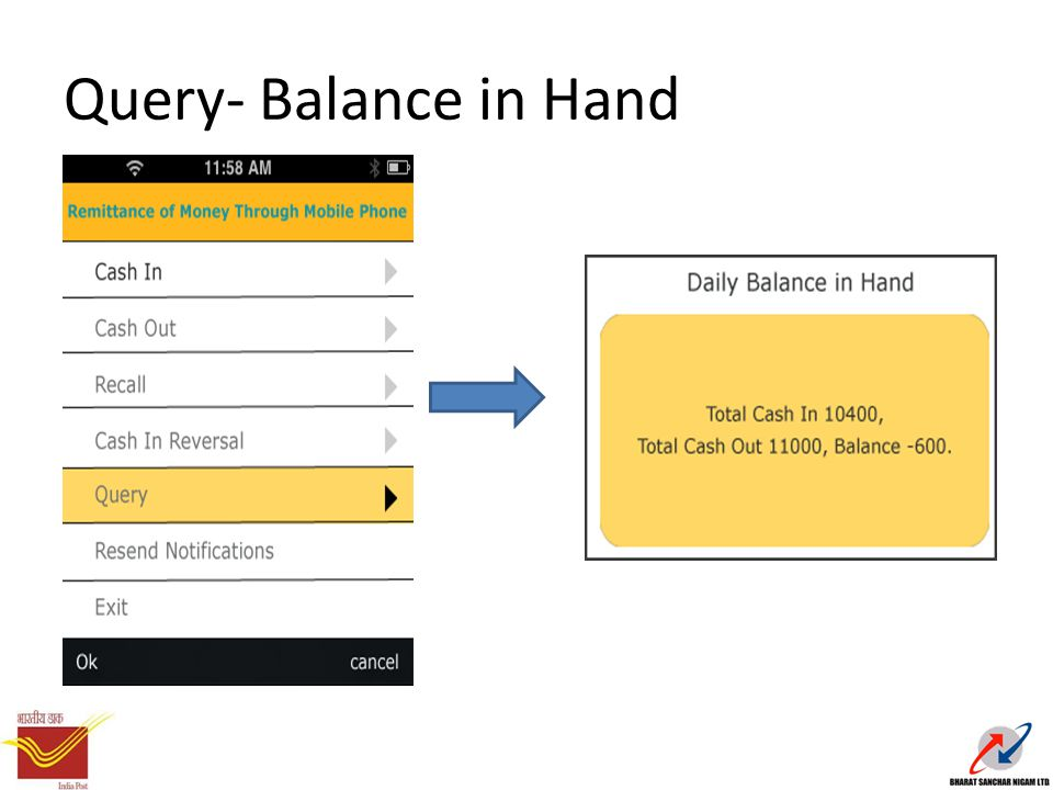 Query- Balance in Hand