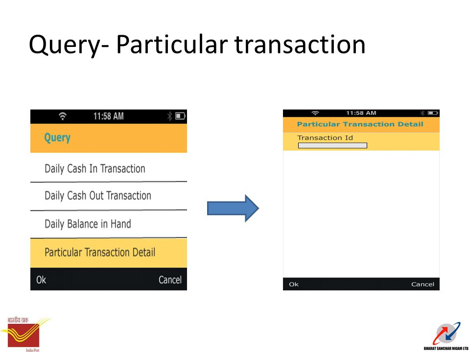Query- Particular transaction