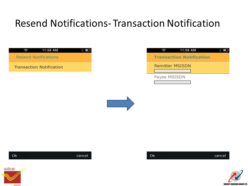 Resend Notifications- Transaction Notification