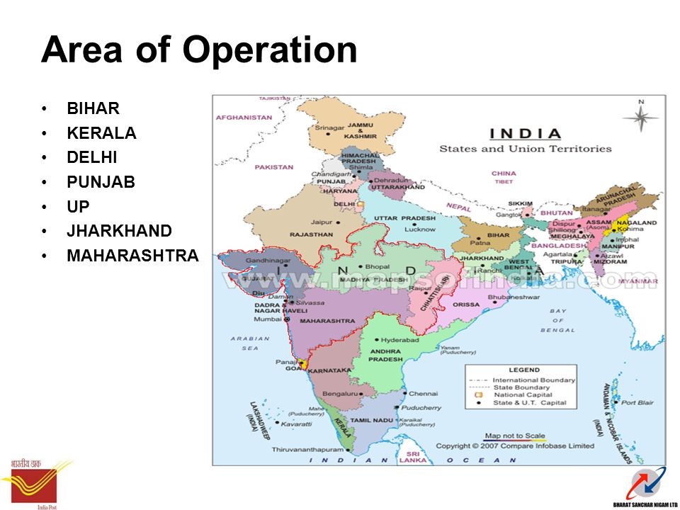 Area of Operation BIHAR KERALA DELHI PUNJAB UP JHARKHAND MAHARASHTRA