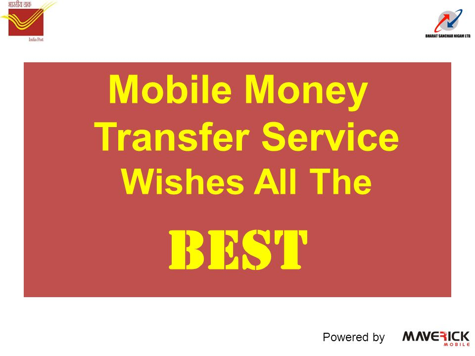 Mobile Money Transfer Service Wishes All The BEST Powered by